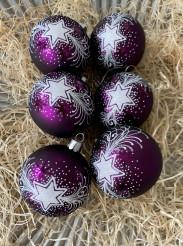 Vánoční hvězda tmavě fialová