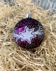 Vánoční hvězda se jménem, tmavě fialová