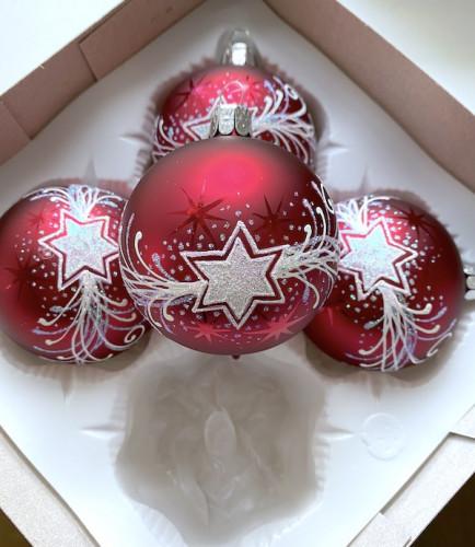 Vánoční hvězda bordó