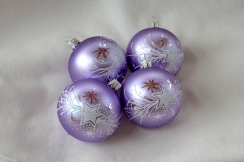 Vánoční hvězda fialová