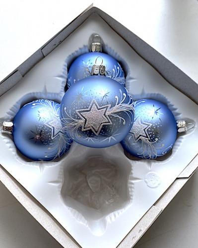Vánoční hvězda světle modrá