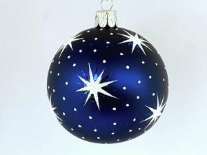Hvězdičky - tmavě modro-bílé