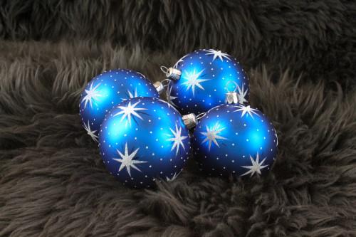 Hvězdičky - modro-bílé