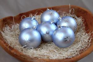 Hvězdičky - modro-stříbrné