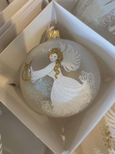 Anděl lyra 10cm zlatý se jménem