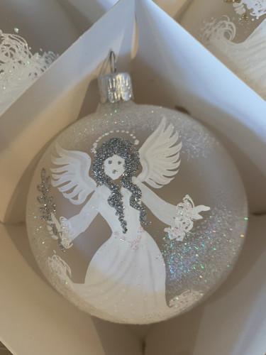 Anděl ratolest 10cm stříbrný se jménem