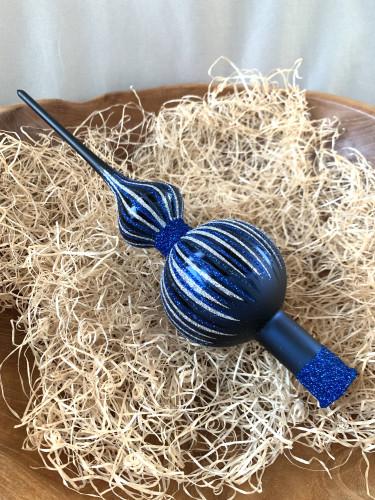 Vánoční paprsky - tmavě modrá - špice