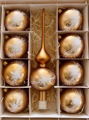 Vánoční hvězda zlatá - set