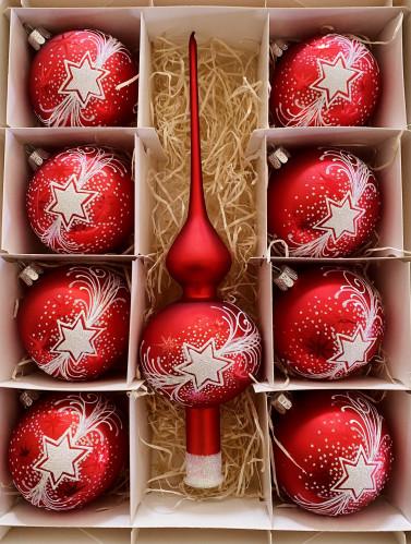 Vánoční hvězda červená - set