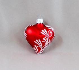 Červený lístek - srdce