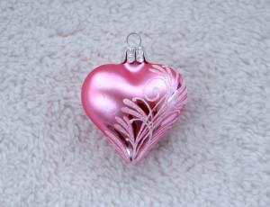 Růžový lístek - srdce